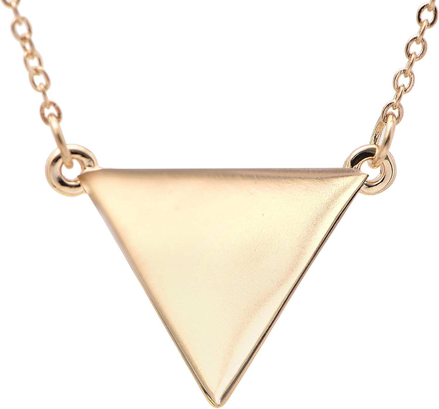 Dainty Little Gold Triangle Minimalist Necklace Gold Triangle Necklace Everyday Sister Necklace Gift for women Silver Geometric Necklace
