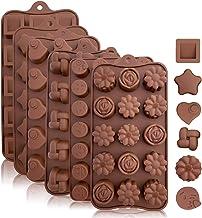 Moldes de silicona para hornear, caramelos y chocolate: pequeño molde flexible para moldear caramelos duros o gomitas en diferentes formas novedosas, café (6 unidades)