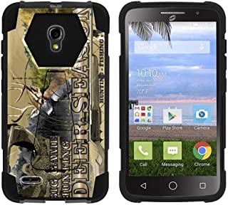 TurtleArmor | Compatible with Alcatel One Touch Pop Icon 2 Case [Dynamic Shell] Hard Hybrid Cover Absorber Resistant Silicone Kickstand Impact Protection - Deer Hunting Season