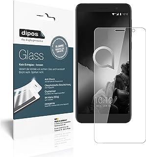 dipos I 2x skärmskydd kompatibel med Alcatel 1X (2019) flexibelt glas 9H displayskydd