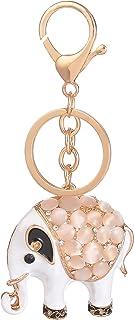 Giftale Elephant Keychain for Women Cute Bag Charms Crystal Rhinestone Pendant Car Key Ring