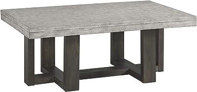 Lane Home Furnishings , Cocktail Table, Concrete top, dark brown base