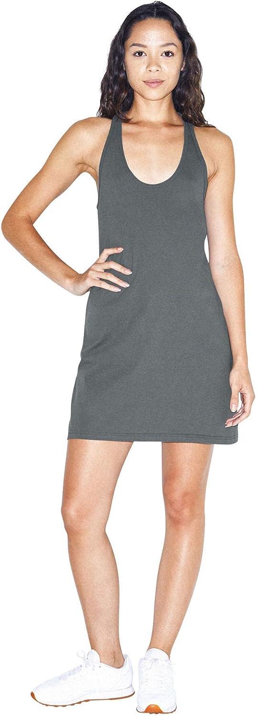 American Apparel Women's Fine Jersey Sleeveless Racerback Tank Dress