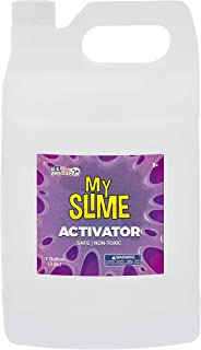 My Slime Activator Solution - Gallon (128 Ounce) Kit - Make Your Own Slime, Just Add Glue - Kid Safe, Non-Toxic - Replaces Borax, Baking Soda, Contact Lens Solution - Activating PVA School Glue