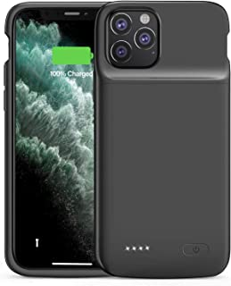 iPhone 11 Pro Battery Case,ShowTop Wireless Charging Case with 4800mAh Extended Battery in Black, with Raised Bezel Rubber...