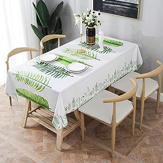 Essort Rectangle Mantel para Mesa PVC Hule Mantel Cuadrado para Comedor, Impermeable y Prueba de Aceite Hojas 137 x 185 cm