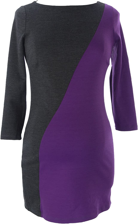 JULES & JIM Maternity Women's color Block Dress Purple Antracite