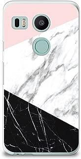 CasesByLorraine Nexus 5X Case, Black & White Marble Print Case Flexible TPU Soft Gel Protective Cover for LG Google Nexus 5X (X16)