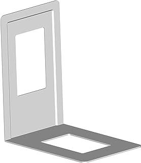 Element System 10803-00000 Serre-Livre en métal Blanc 120 x 130 mm Blanc 4 pièces