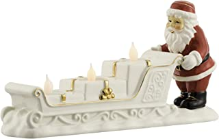 BELLEEK LIVING Santa Sleigh Ornament, Stone Gold/White/Red, 27 x 8 x 15 cm