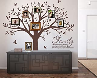 LSKOO Large Family Photo Tree Wall Decal with Family like Branches on a Tree Wall Decals Wall Sticks Wall Decorations for Living Room (Brown)