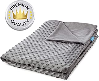 Snuggle Pro Weighted Blanket Cover - 60 x 80 Inches Queen Size - Calming Soft Minky Dot Fabric - Removable and Machine Washable - Grey