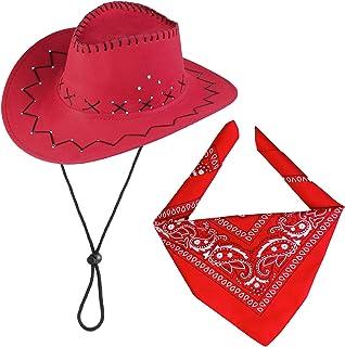 AC1998 55 x 55 cm Bandana western rouge 55 x 55 cm environ Aptaf/êtes