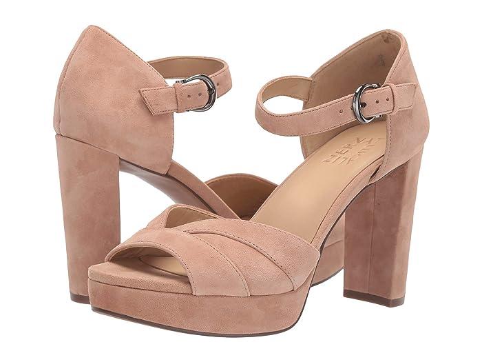 60s Shoes, Boots Naturalizer Malina Gingersnap Suede High Heels $67.50 AT vintagedancer.com