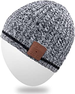 Rotibox Bluetooth Beanie Hat, Winter Unisex Knit Cap with Wireless Stereo Headphone Headset Earphone Speaker Mic Hands Free for Outdoor Sports Skiing Snowboarding Running Jogging Camping