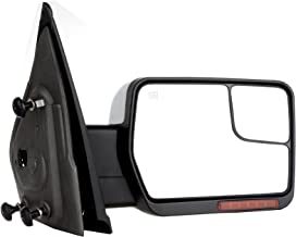 SCITOO fit Ford Towing Mirror Chrome Rear View Mirror fit 2004-2014 Ford F-150 Truck with Mirror Glass Power Control Heated Turn Signal and Puddle Lamp Features-Passenger Side