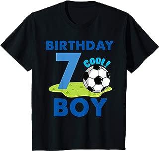 Kids 7th Birthday Gift Idea Boys Soccer 7 Years T-Shirt