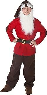 Kids Dwarf Costume X-Large Red