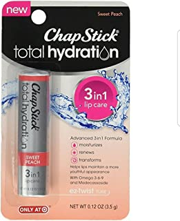 ChapStick Total Hydration 3 in 1 Sweet Peach 2 PACK