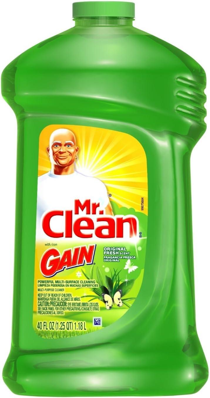 Mr Clean Multi Purpose Cleaner Gain Scent 40 oz 2 Pack: Health & Personal Care