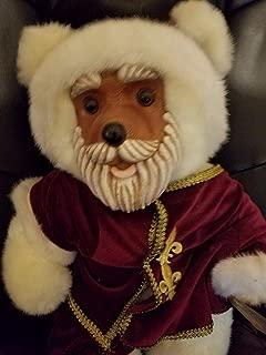 Kingdom Collectibles Robert Raikes Santa Claus Wood Carved Face and Feet 18