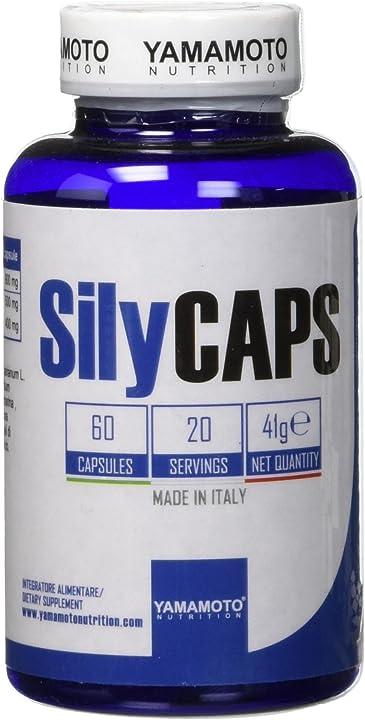 Integratore alimentare di cardo mariano titolato all`80% di silimarina 60 capsule -yamamoto nutrition-silycaps P37496