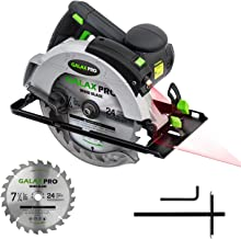 "GALAX PRO 12A 5500RPM Corded Circular Saw with 7-1/4"" Circular Saw Blade and Laser Guide Max Cutting Depth 2.45"" (90°), 1...."