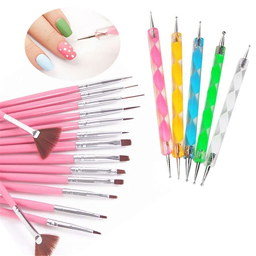 茎リスク羊のBEE&BLUE ブラシ ネイルブラシ ネイルデザインペン ファション オシャレ ペン 美人 ピンク