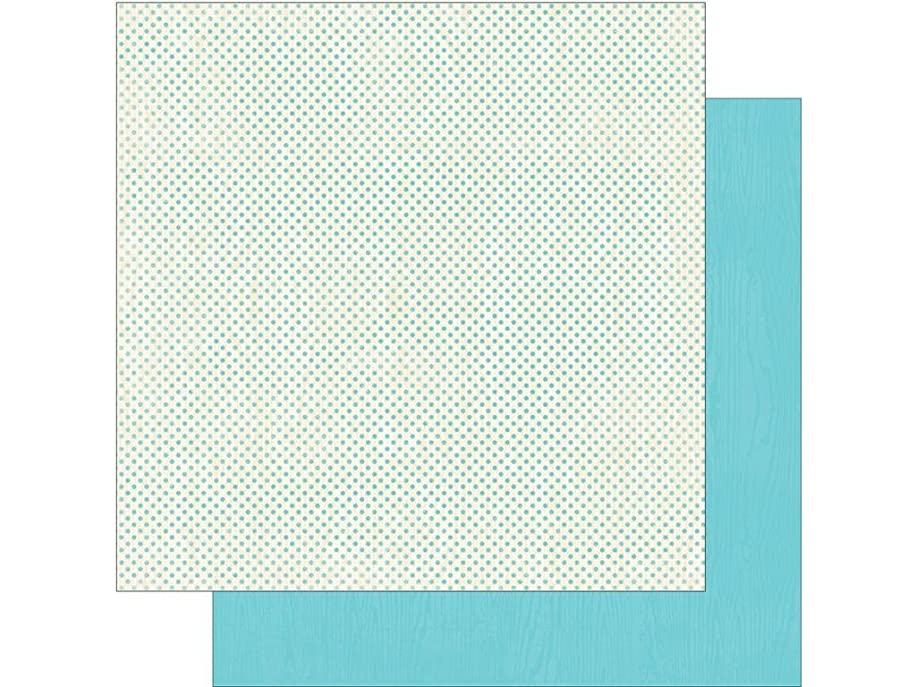 Authentique Paper BCD008 Cuddle Boy Double-Sided Cardstock Foundation No 2 Mini Dot/Sky Blue Solid (18 Sheets Per Pack), 12