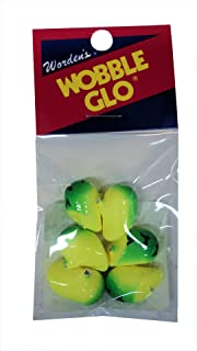 Wordens Wobble Glo Bobbers - 6 Per Pack - Size 8 - Lime Chartreuse Tiger - #WG.595.LCT.B6 - NOT Glow in Dark