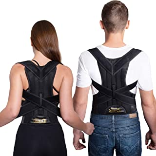 Back Support Brace Posture Corrector Traction Device - Relieves Neck, Back and Spine Pain - Improve Bad Posture, Thoracic ...