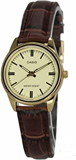 Casio Casual Watch For Unisex Analog Leather - LTP-V005GL-9A