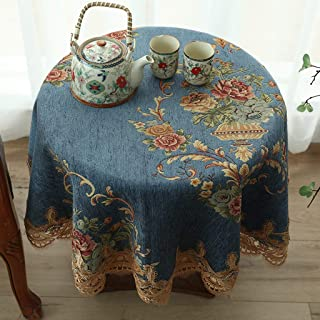 テーブルクロス 円形のダイニングテーブルの家のコーヒーテーブルのレストランのためのヨーロッパの小さい円形のテーブルテーブルクロス (Color : C, Size : 140cm)