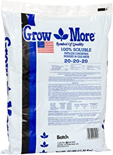 Grow More 5010 All Purpose Fertilizer 20-20-20, 25-Pound