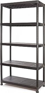 Tayg Kit estantería plástico 945, negro, 900 x 400 x 1800