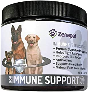 Zenapet Dog Immune Support-Immune Booster for Dogs-Safeguard Your Dog's Immune System-Premier Superfood Supplement for Your Pet-Natural Vitamins for Dogs in Food Form with Antioxidant Support