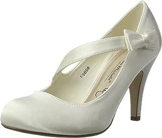 Ajvani Women's Bridal High Heel Pumps Court Shoes Size