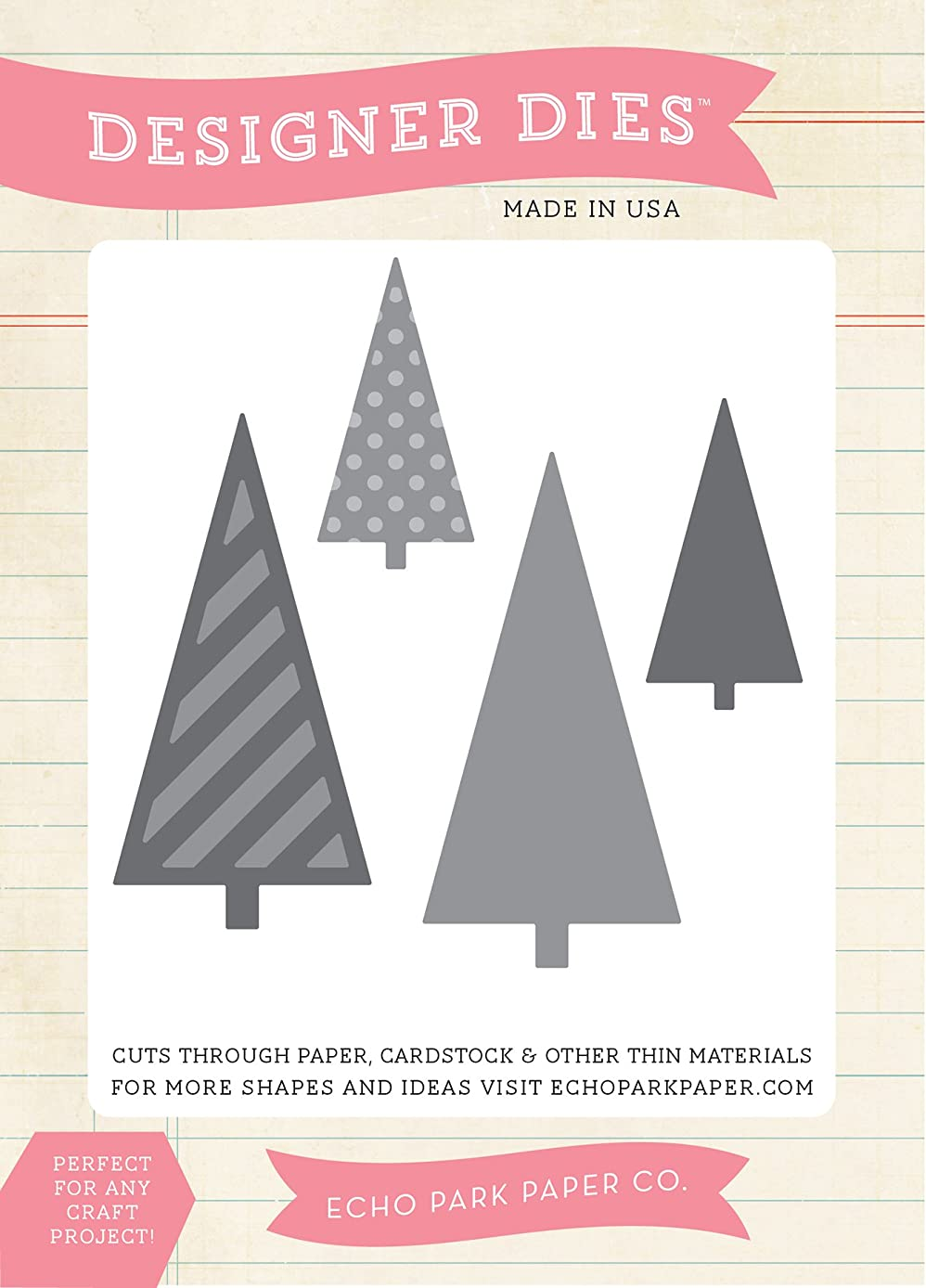 Echo Park Paper Company Christmas Tree Die Set