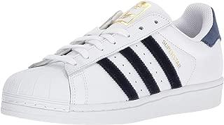 adidas AC7163: Womens Superstar Fashion White/Navy Sneaker (10 B(M) US)