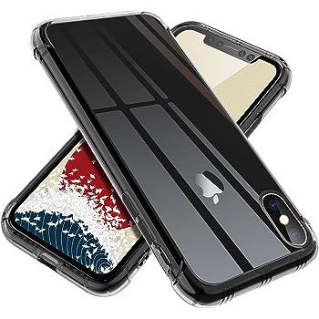 【ONES】 iPhone Xs/X ケース 半透明·黒 米軍MIL規格〔耐衝撃、レンズ保護、滑り止め、軽い、黄ばみなし〕『エアクッション技術、半密閉音室、Qi充電』 高級感 カバー Airシリーズ