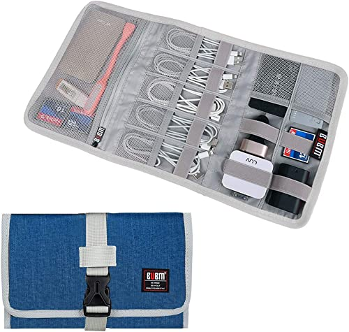 Electronic Organizer, BUBM Travel Cable Bag/USB Drive Shuttle Case/Electronics Accessory Organizer for Home Office, L...