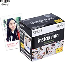 Fujifilm Instax Mini 50 Sheets White Film Photo Paper Snapshot Album Instant Print for Fujifilm Instax Mini 7s/8/25/90/9