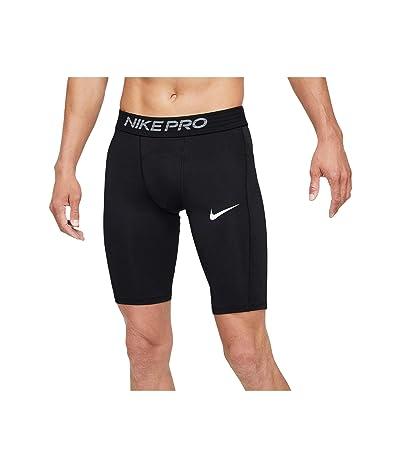 Nike Big Tall Pro Shorts Long (Black/White) Men