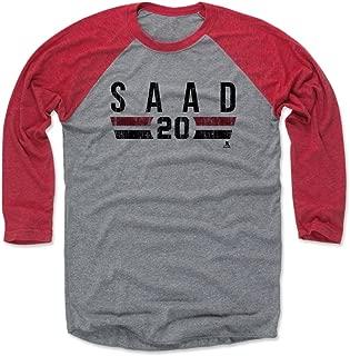500 LEVEL Brandon Saad Baseball Shirt - Chicago Hockey Fan Gear - Brandon Saad Chicago Font