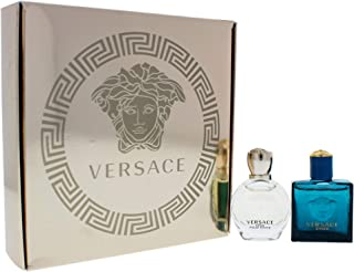 Versace Versace Eros By Versace for Unisex - 2 Pc Gift Set 5ml Pour Femme Edp Splash, 5ml Pour Homme Edt Splash, 2 Count