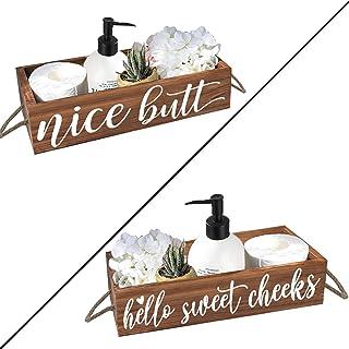 cocomong 素敵なお尻 バスルーム装飾ボックス 両面 トイレットペーパーホルダー 面白い農家 バスルーム装飾
