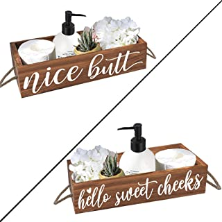 cocomong Nice Butt Bathroom Decor Box 2 Sides, Toilet Paper Holder, Funny Farmhouse Bathroom Decor