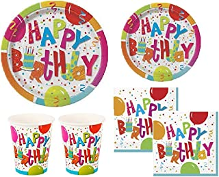 Jamboree Birthday Party Supplies Pack for 16 Guests - Including Dinner/Luncheon Plates, Dessert Plates, Napkins and Cups