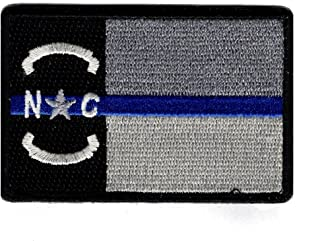 North Carolina State Flag Thin Blue Line NC Hook Patch (NCP2)