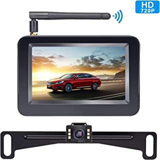 Yakry Backup Camera Wireless 4.3'' Monitor Kit for Car/SUV/Minivan/Pickup..